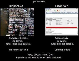 biblioteka vs piractwo